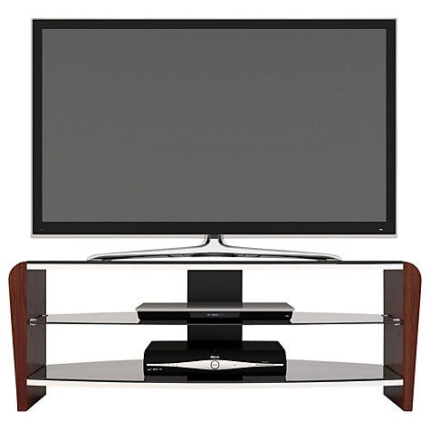 Buy Alphason Francium 110 TV Stand for up to 42-inch TVs, Black/Walnut Online at johnlewis.com