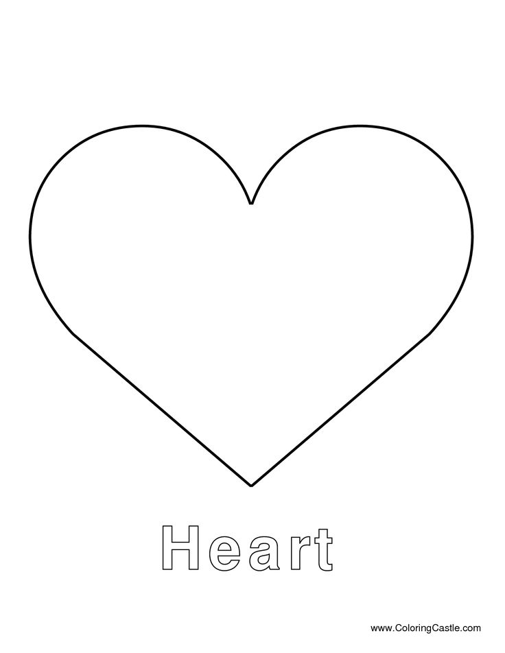This is an image of Gratifying Large Heart Template Printable