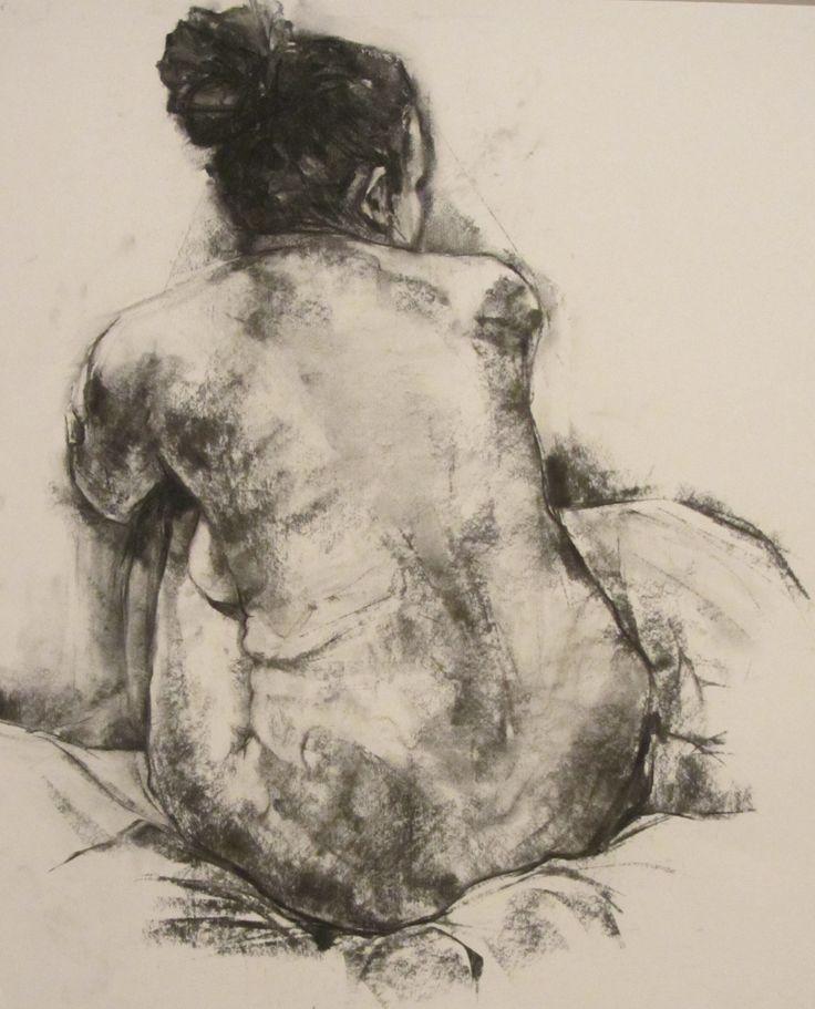 'Woman', charcoal drawing