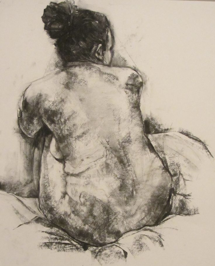 'Woman', charcoal drawing