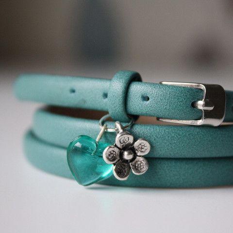 Sea Green Buckle Bracelet £12.00