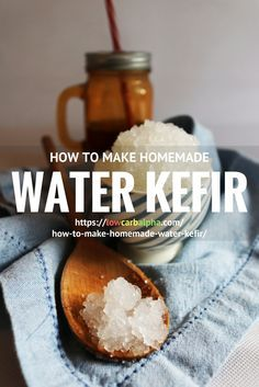 What is Water Kefir and how to make it https://lowcarbalpha.com/how-to-make-homemade-water-kefir/ using Tibicos grains. Ingredients and types of sugar to culture kefir, Second Fermentation to produce a fizzy water kefir drink and many health benefits of consuming probiotics in your diet.