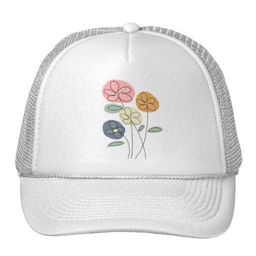 flores y mariposas gorras