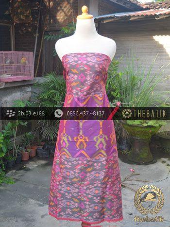 Kain Tenun Ikat Motif Pelangi Ungu | Silk Ikat http://thebatik.co.id/kain-batik-bahan/