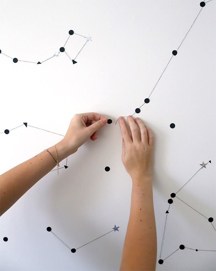 Sticker Star Wall Constellation via A Subtle Revelry