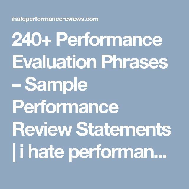 The  Best Performance Evaluation Ideas On   Self