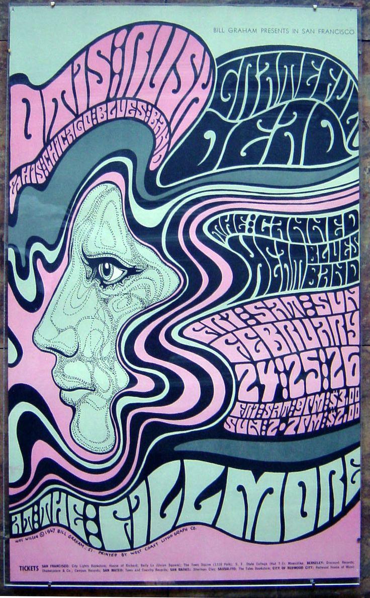 Wes Wilson Posters / Fillmore / Grateful Dead