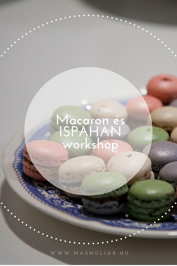 """ISPAHANRÓL: a mesés kelet, PERZSIA ihlette ezt a sütemény költeményt. A nevét, az egykori perzsa fővárosról Iszfahan-ból kapta. Ez az  ÓRIÁS MACARON CSODA különlegesen látványos és esztétikus sütemény! A tavaszi worskhopon litchivel, friss málnával és rózsalevelekkel díszítve készítjük el!   A MACARONRÓL már nem kell írnunk, hiszen manapság már városszerte minden cukrászdában megtalálható. Ugyan NAGY különbségek vannak ízekben és """"állagokban"""" - de erről beszélünk bőven."""
