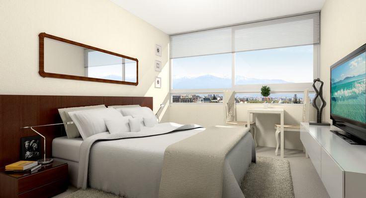 Dormitorio principal Dpto. 3 dormitorios.