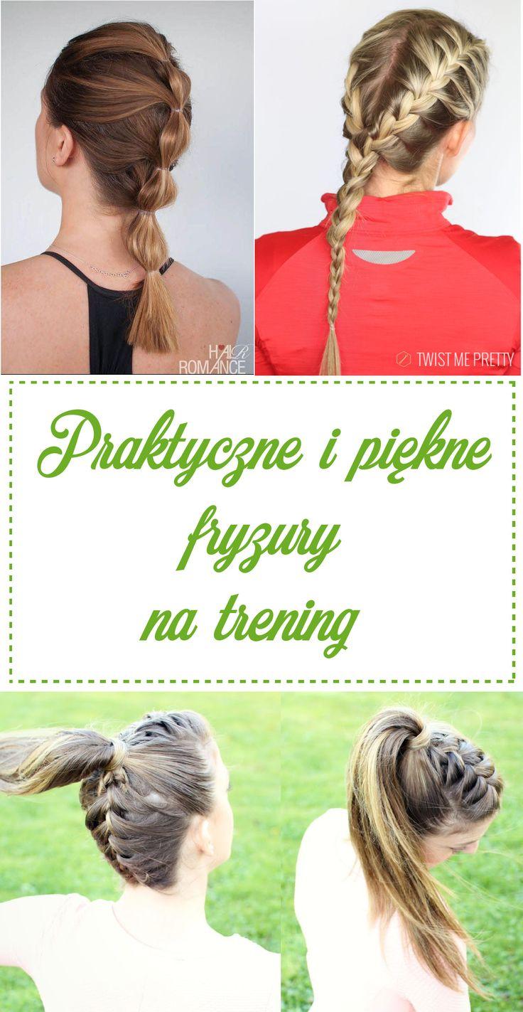 Piękne i praktyczne fryzury na trening, do biegania // Workout hairstyles
