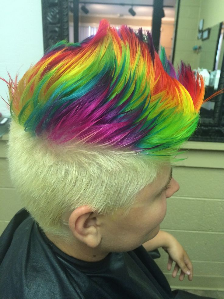 www.outrageousrainbows.com | rainbow mohawk