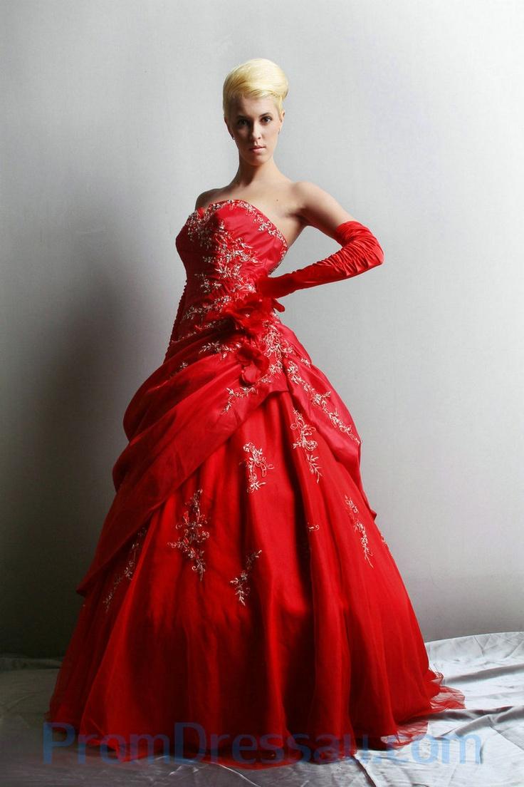 120 best Red Wedding Dress Designs images on Pinterest | Wedding ...