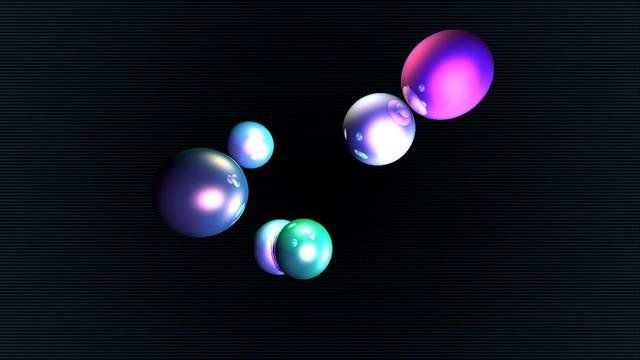 This is a test of my HTML5 demosystem, version 0.3, featuring realtime raytracing (on the GPU) of 6 spheres and 4 point-lights with shadows.  The raytracing code is very simple and not optimized. On my ATI 5770 i get 60 frames per second with a GPU load of about 35%.  This is the video conversion of the WebGL animation available at: postronic.org/h3/test/webgl/ds03/ (works best with Google Chrome and a recent video card)  Further information available on my blog: postronic.org/h3/