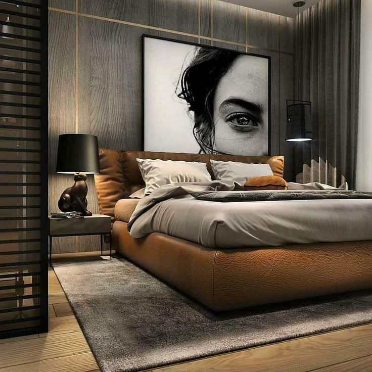 Bed, polished nickel Bed frame and headboard, Bed