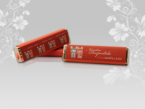 Chocolate con etiqueta personalizada