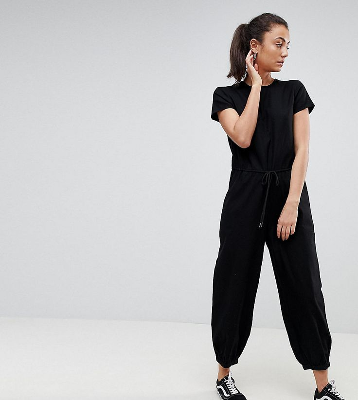 #mode #ootd #outfit #fashion #style #online   #Damen Noisy May Tall – Lockerer gewebter Jumpsuit – Schwarz | 2201473946781