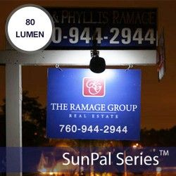 FOR JUST $9.95 MAKE YOUR FOR SALE SIGN WORK 24/7 WITH SOLAR POWERED LIGHT.  The SunPal 4x is a unique and affordable solar sign light designed for use on real estate signs. The SunPal 4x is easy to install and will mount securely on wooden, metal, or PVC post frames of any thickness. It includes an adjustable neck allowing for optimal sign illumination http://www.siliconsolar.com/real-estate-solar-light-p-16278.html
