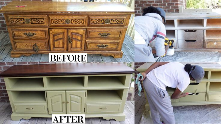 A Great Makeover Of An Old Dresser I Think I Ve Seen This