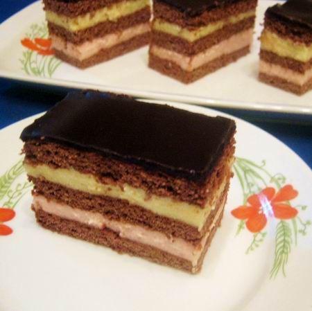 Lajcsi szelet csokimázzal Recept képpel - Mindmegette.hu - Receptek
