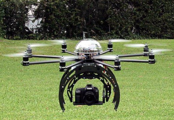Aerial drone, crossing over a field #flight #technology #security