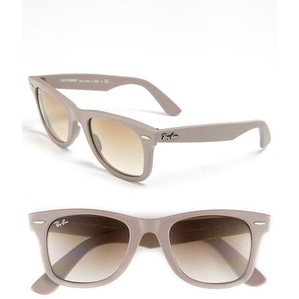 Ray-Ban 'Classic Wayfarer' 50mm Sunglasses Tortoise One Size ($160) found on Polyvore