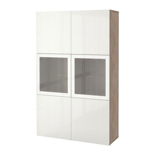 ... lucido/vetro smerigliato bianco - 340 - 120 L x 192 h 40 d - IKEA