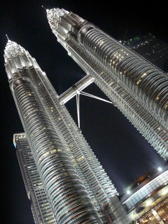 Midnight at the Petronas Twin Towers