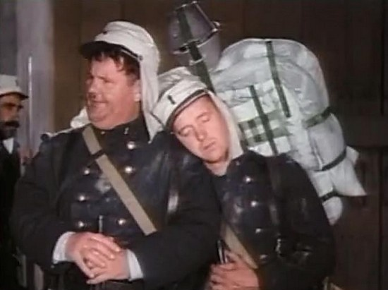 The incomparable Oliver Hardy and Stan Laurel.