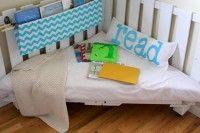 diy kids reading nook made of pallets