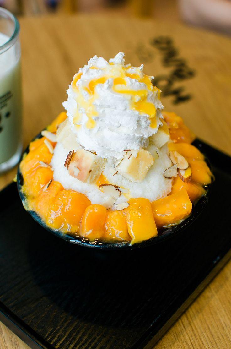 mango cheesecake bingsu food �� ���� ��� ����
