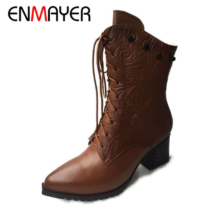 Cheap shoe show boots, Buy Quality boots shoe insoles directly from China shoe stretchers for boots Suppliers:        ENMAYER High Heels Shoes Woman Bowtie Rhinestone Ankle Boots for Women Autumn&Winter Boots Shoes Side Zip Black R