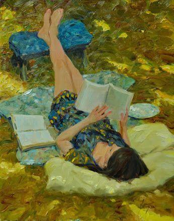 ✉ Biblio Beauties ✉ paintings of women reading letters & books - Los Ojos de Hipatia on