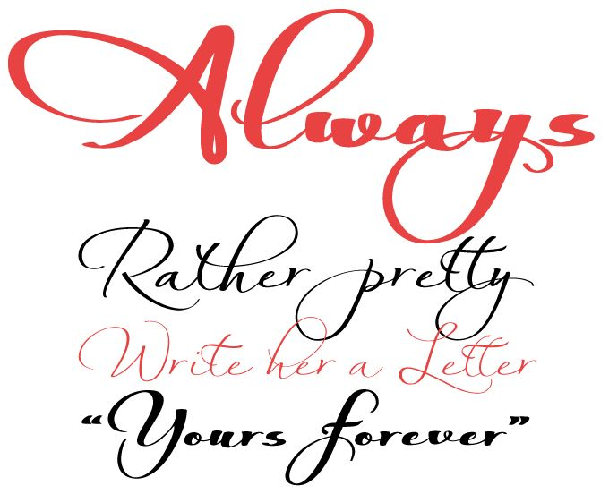 Always font sample typography design pinterest