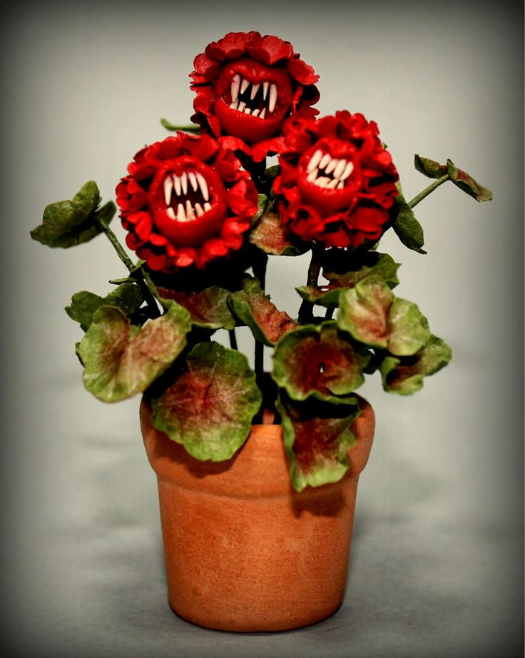 harry potter fanged geranium 12th scale dollhouse miniature homemade halloweenhalloween stuffhalloween - Halloween Stuff