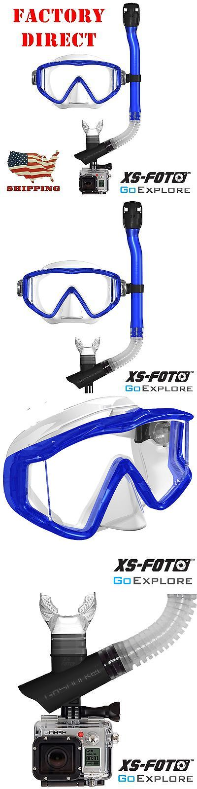 Snorkels and Sets 71162: Blue Mask And Snorkel Set With Gopro Camera Mount - Hands Free Video By Xs Foto -> BUY IT NOW ONLY: $34.99 on eBay!