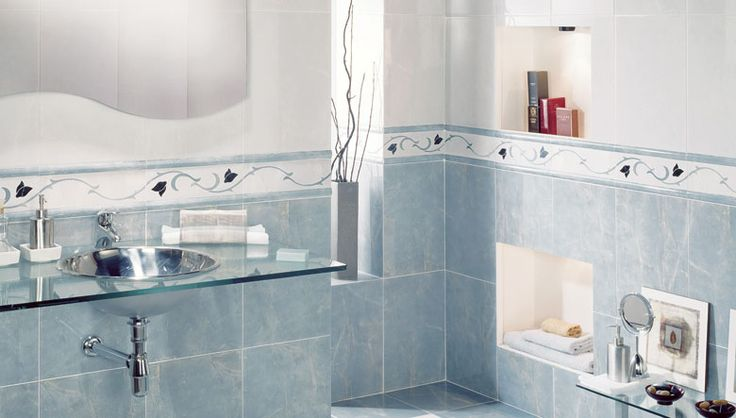 Baños Elegantes Clasicos:Blue Bathroom Wall Tile Designs