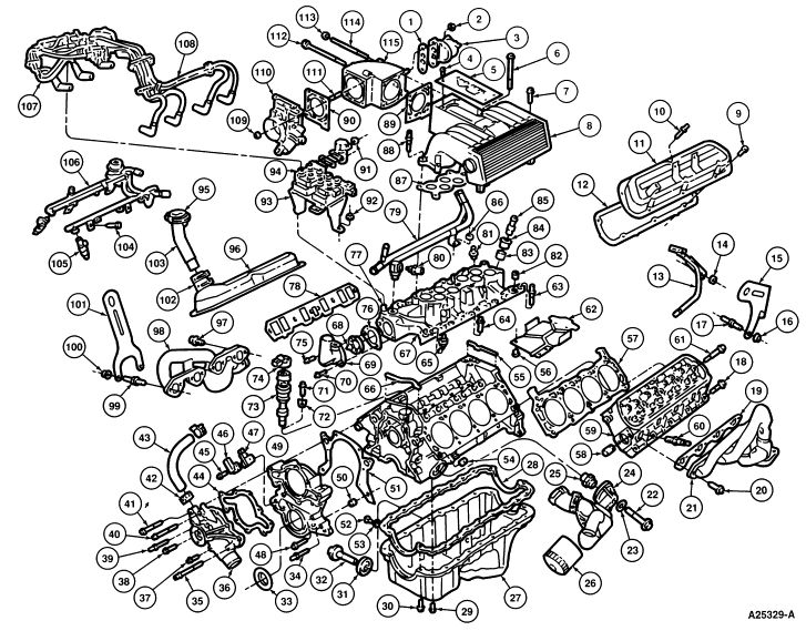 2003 ford explorer sport trac engine diagram parts list