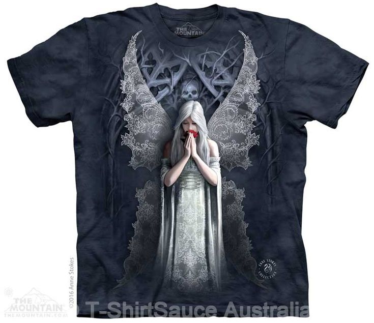 Only Love Remains Adults T-Shirt by Anne Stokes : The Mountain - 2017 Collection : T-Shirtsauce Australia: The Mountain T-Shirts
