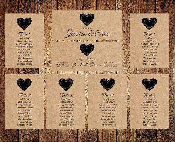 Wedding Seating Chart, Editable Text, Rustic Kraft Wedding Seating Chart template, Download Instantly, digital PDF, you print, DIY