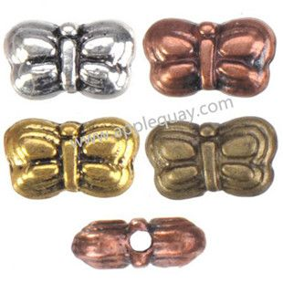 Zinc Alloy Animal Beads,Butterfly,Plated,Cadmium And Lead Free,Various Color For Choice,Approx 5*8.5*3.5mm,Hole:Approx 1mm,Sold By Bags,No 001519