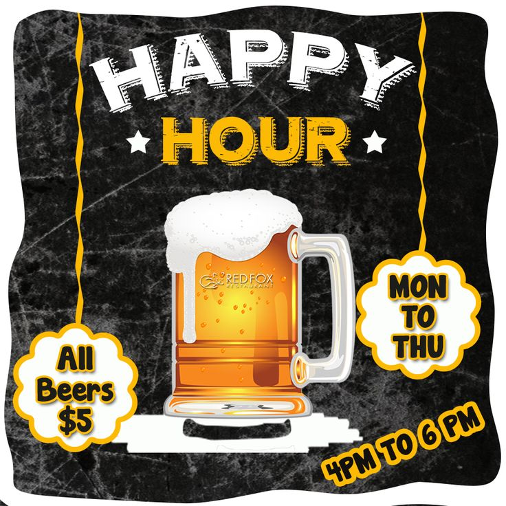 Keep Calm and Come for Happy Hour :)  #RedFoxRestaurant #Restaurant #Warrandyte #Melbourne #Australia #HappyHour #Beer #BeerSpecial