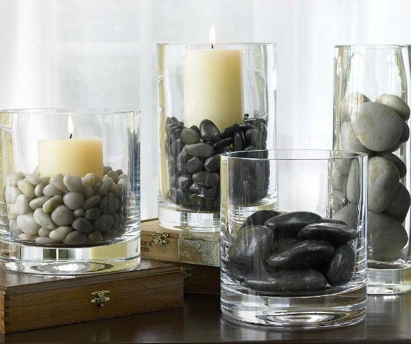 Decoreren met natuurlijke materialen geeft een groots effect. Stenen, schelpen en veren hebben een natuurlijke schoonheid en zijn goed decoratie materiaal.