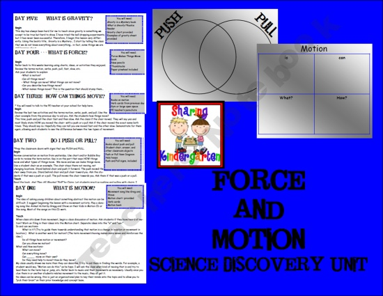 Forces And Motion Lesson Plans Science Pinterest