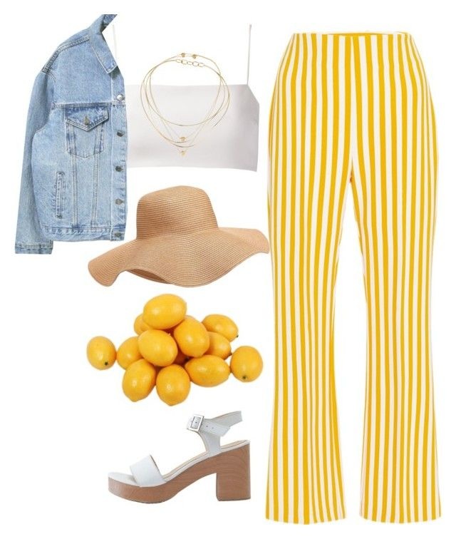when life gives you lemons by chanelandcoke on Polyvore featuring Giuliana Romanno, Clover Canyon, American Apparel, Tiffany & Co., Daisy Knights and Old Navy