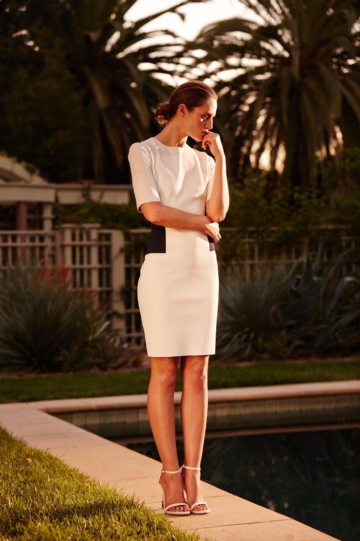 #StJohnKnits fitted summer dress. Minimal meets chic. #Spring2015 sjk.com