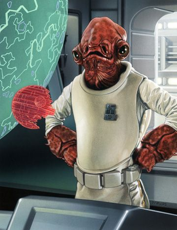 Admiral Ackbar /// by Chris Trevas