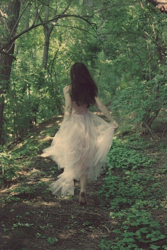 Sometimes I feel like doing this! Running through the woods!