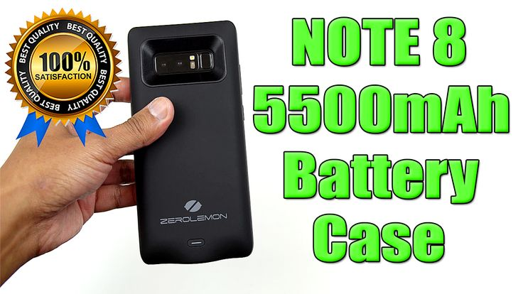 Samsung Note 8 5500mAh Battery Case!