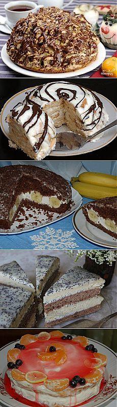 10 вкуснейших домашних тортиков   Хитрости Жизни
