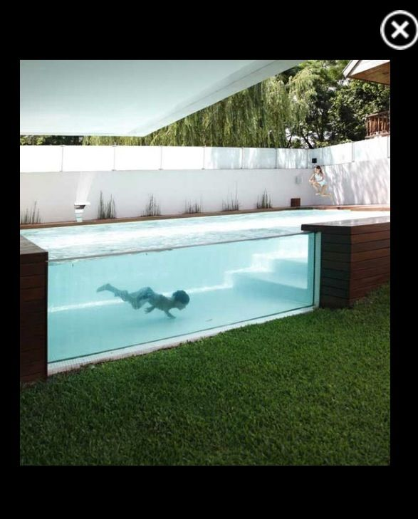 If it must be an above ground pool this one looks pretty - Nice above ground pools ...